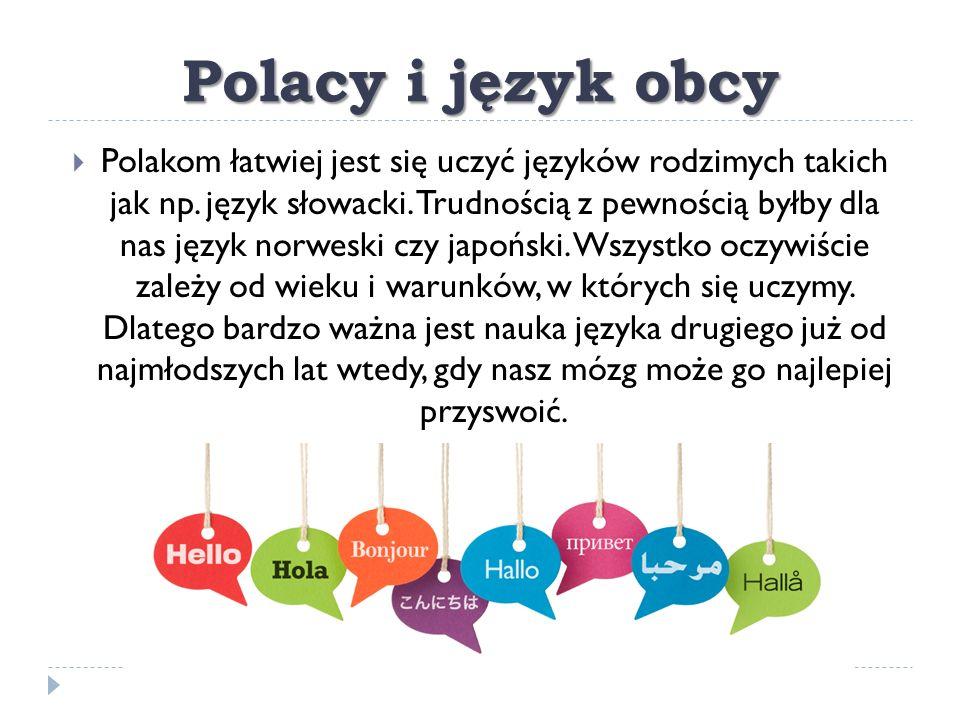 Polacy i język obcy