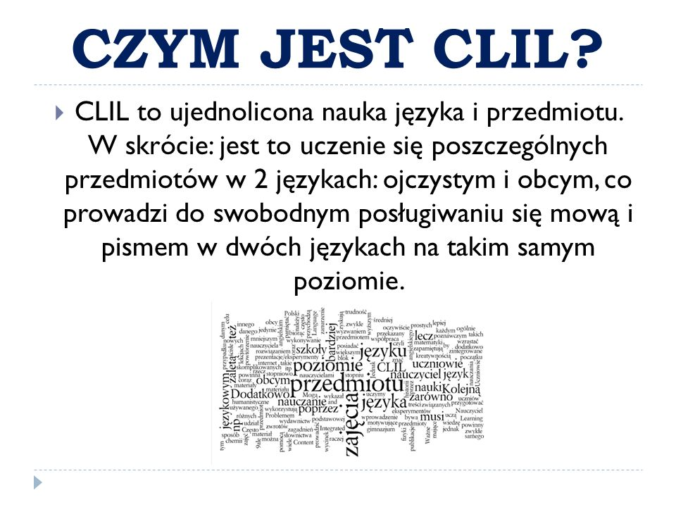 CZYM JEST CLIL