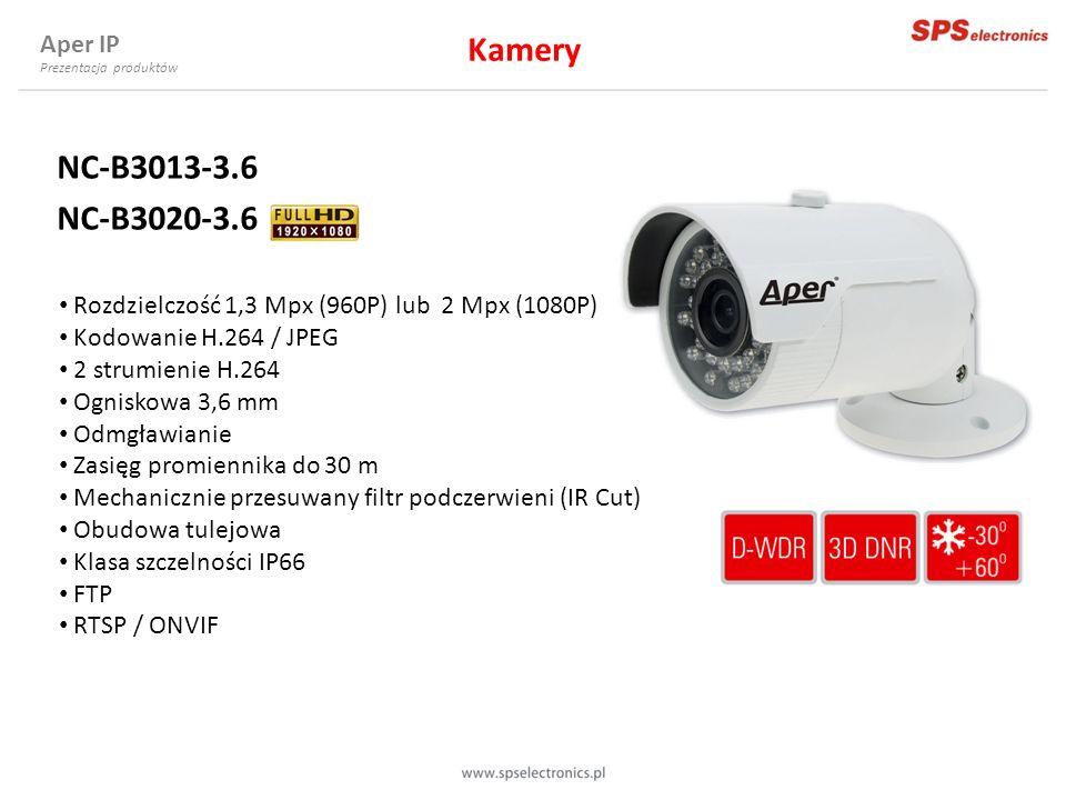 Kamery NC-B3013-3.6 NC-B3020-3.6 Aper IP