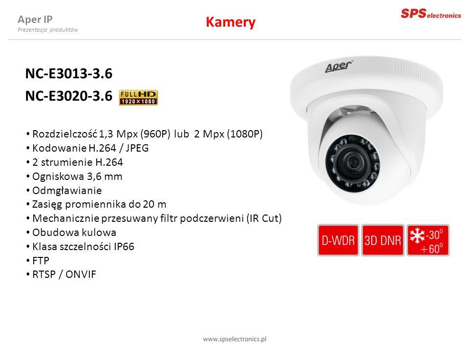 Kamery NC-E3013-3.6 NC-E3020-3.6 Aper IP