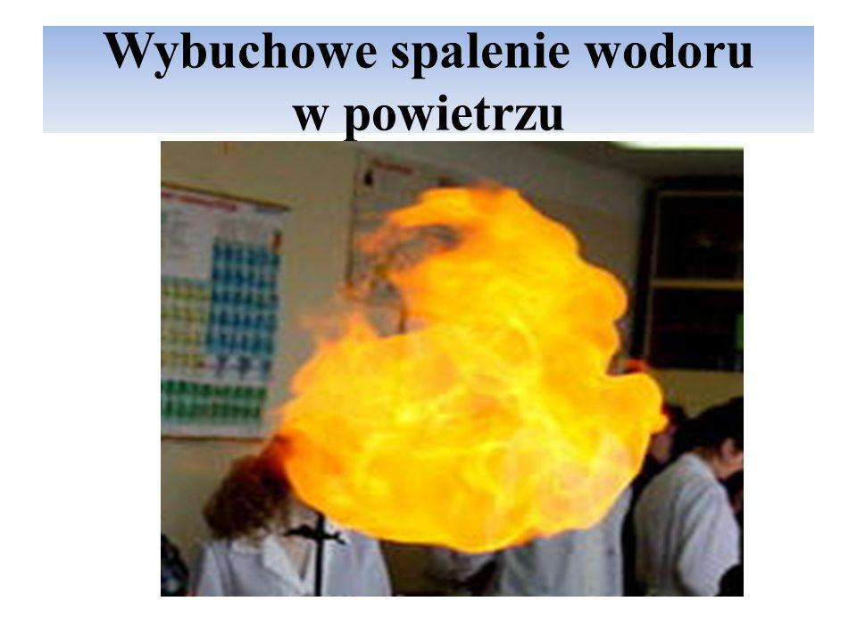 Wybuchowe spalenie wodoru w powietrzu