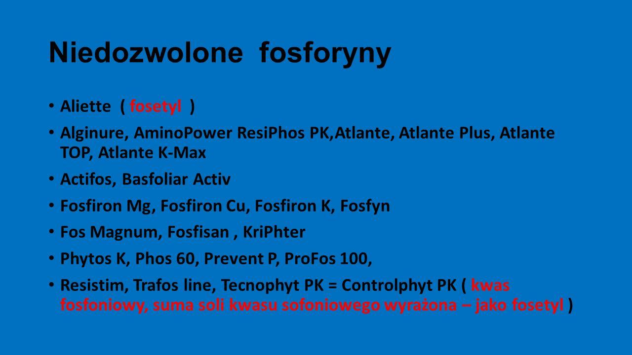Niedozwolone fosforyny