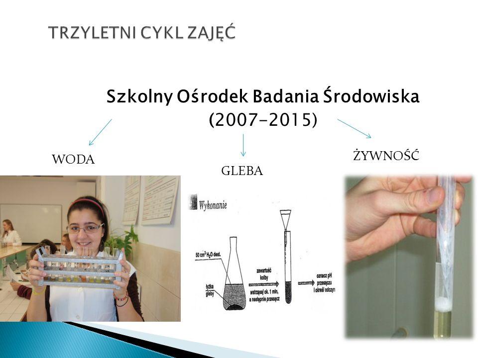 Szkolny Ośrodek Badania Środowiska (2007-2015)