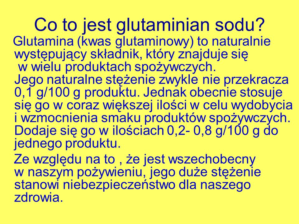 Co to jest glutaminian sodu