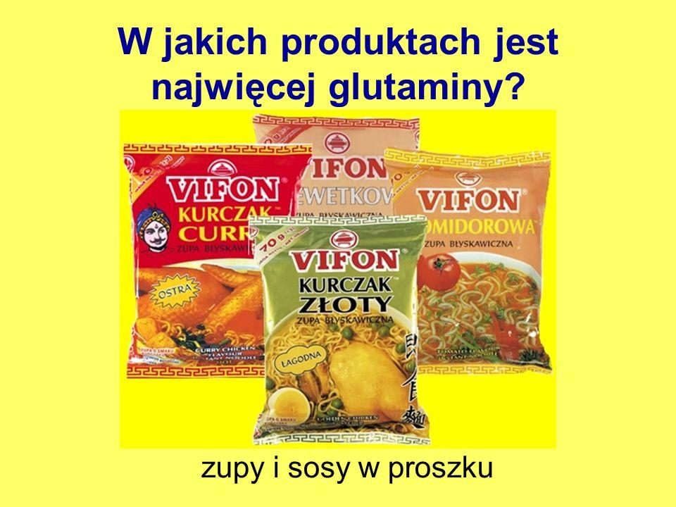 W jakich produktach jest najwięcej glutaminy
