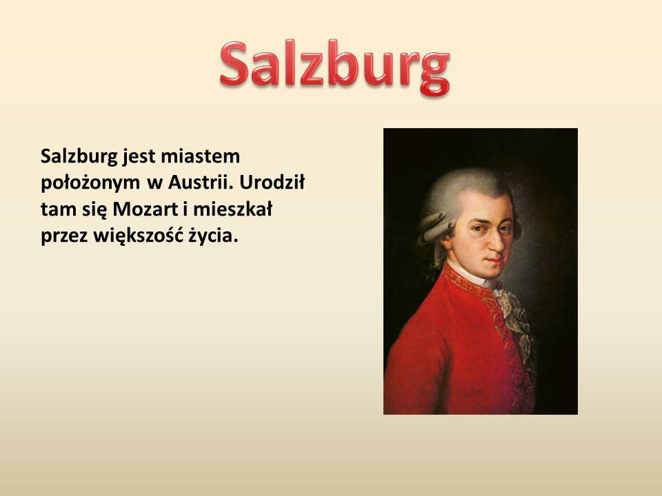 Salzburg Salzburg jest miastem położonym w Austrii.