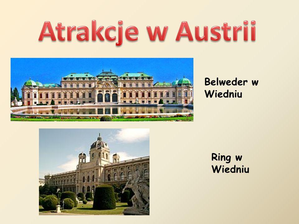 Atrakcje w Austrii Belweder w Wiedniu Ring w Wiedniu