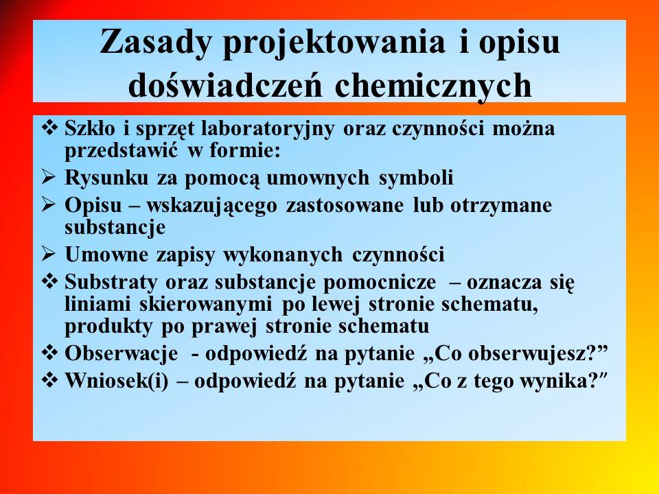 Zasady projektowania i opisu doświadczeń chemicznych