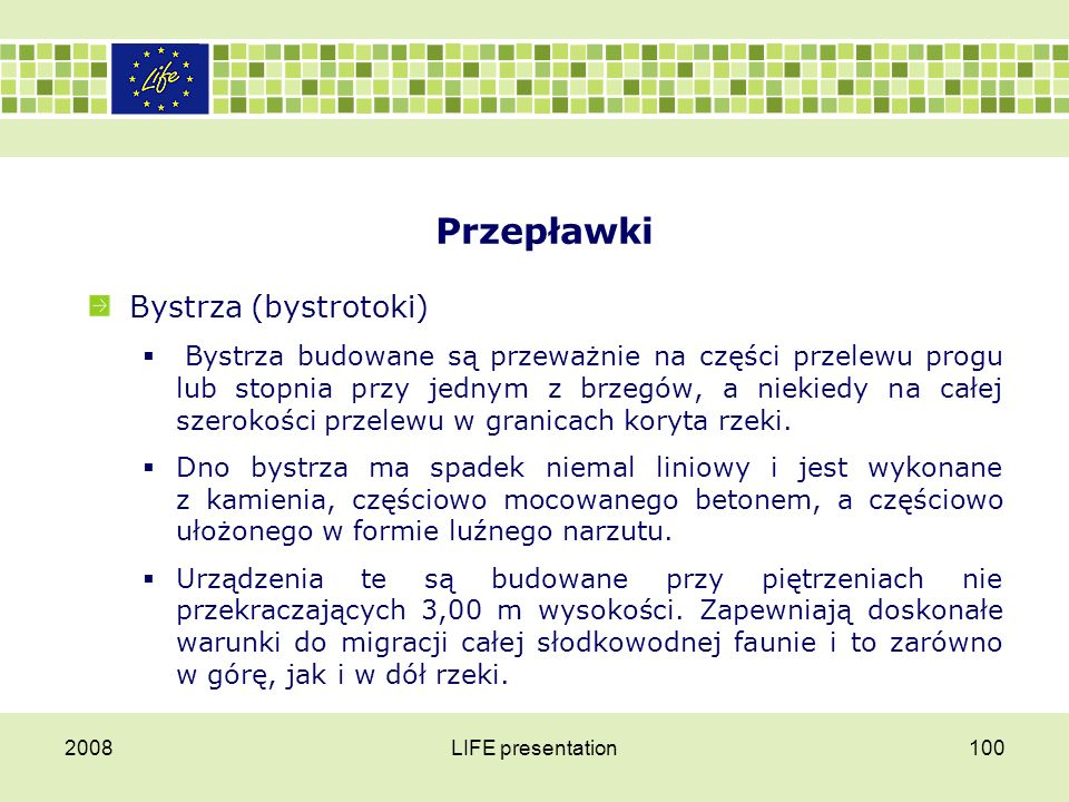 Przepławki Bystrza (bystrotoki)