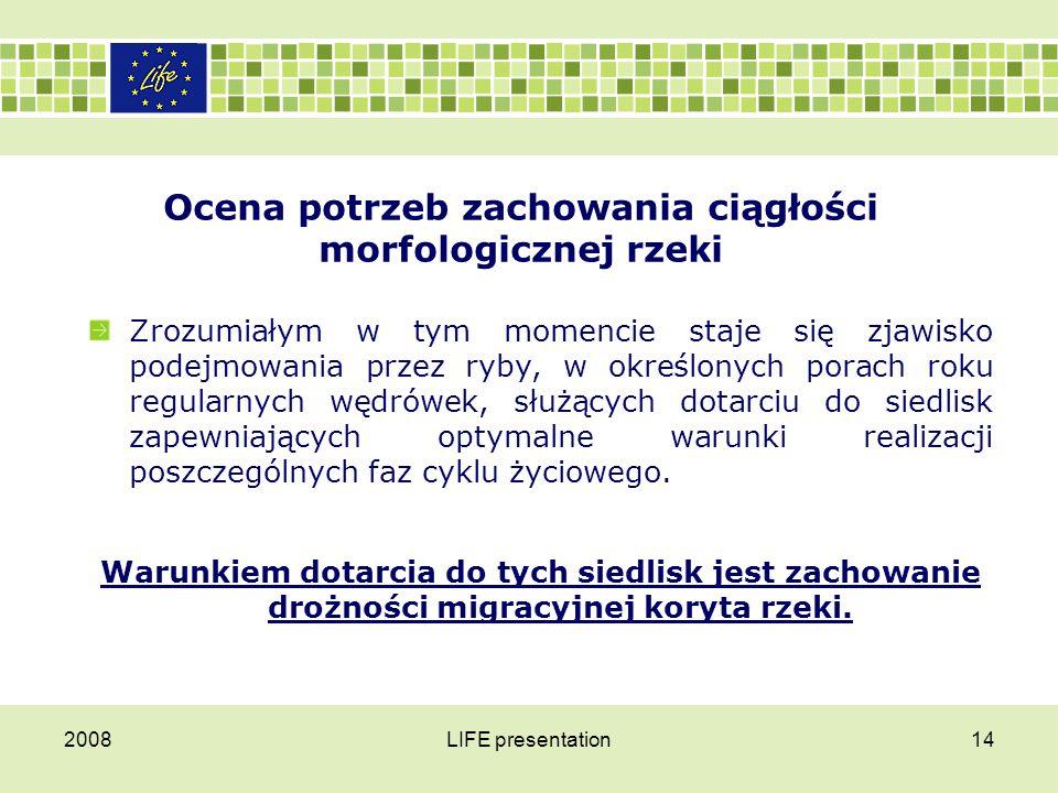Ocena potrzeb zachowania ciągłości morfologicznej rzeki