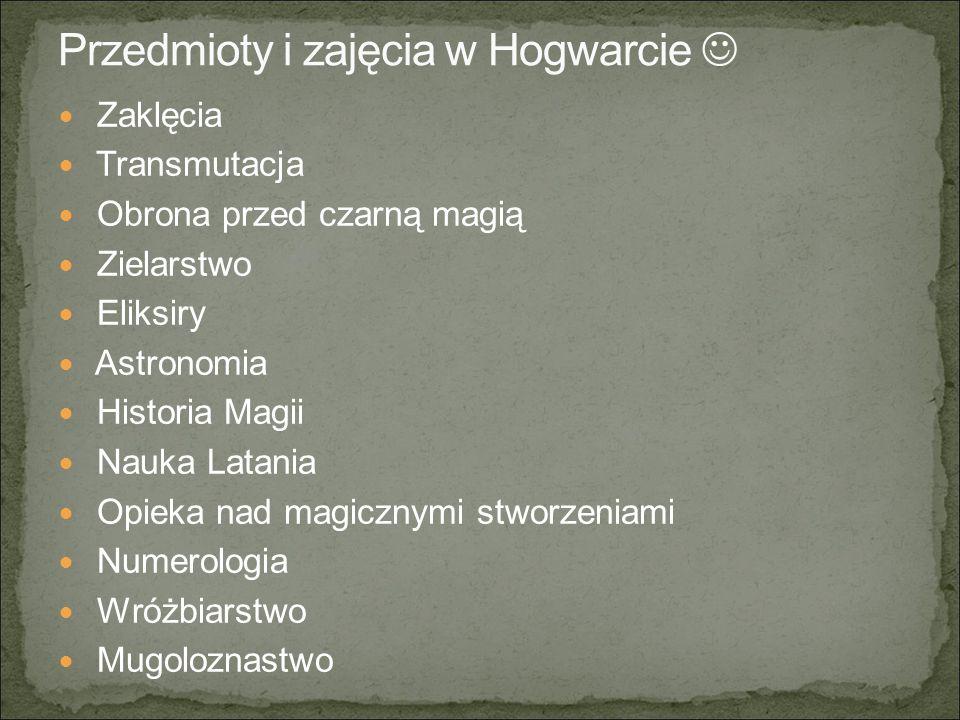 Przedmioty i zajęcia w Hogwarcie 