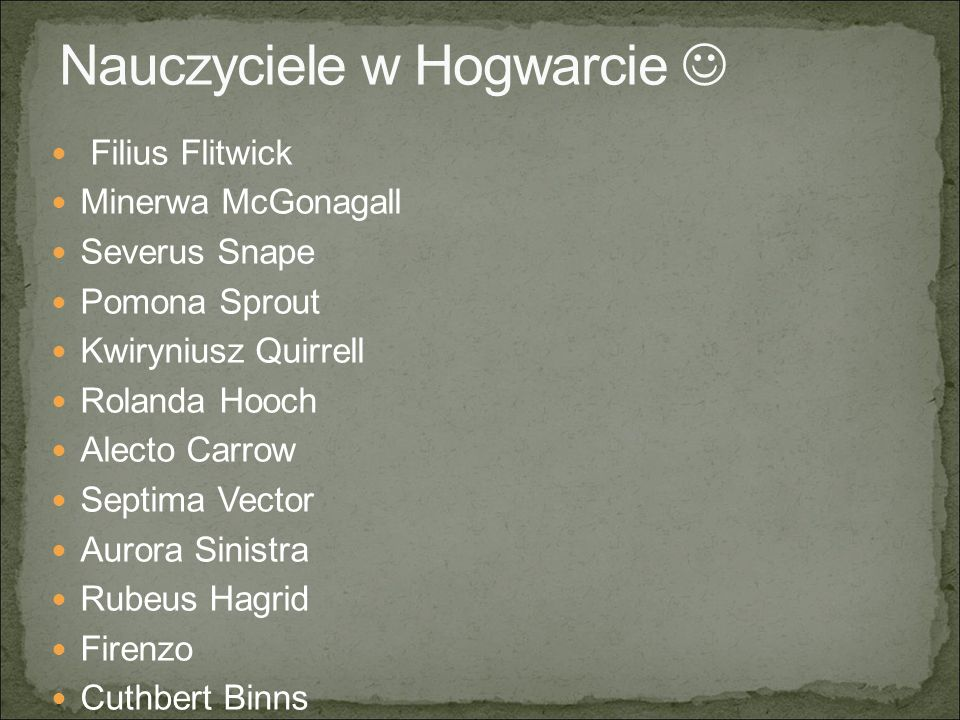 Nauczyciele w Hogwarcie 