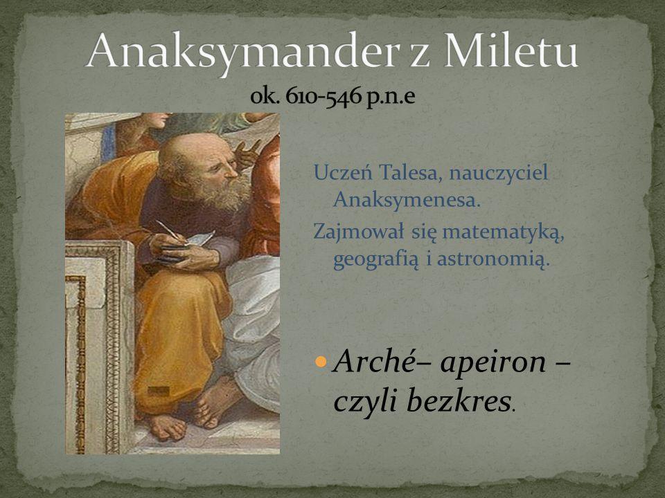 Anaksymander z Miletu ok. 610-546 p.n.e