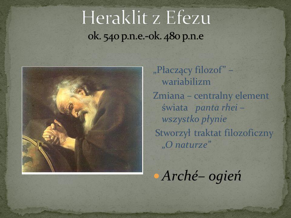 Heraklit z Efezu ok. 540 p.n.e.-ok. 480 p.n.e