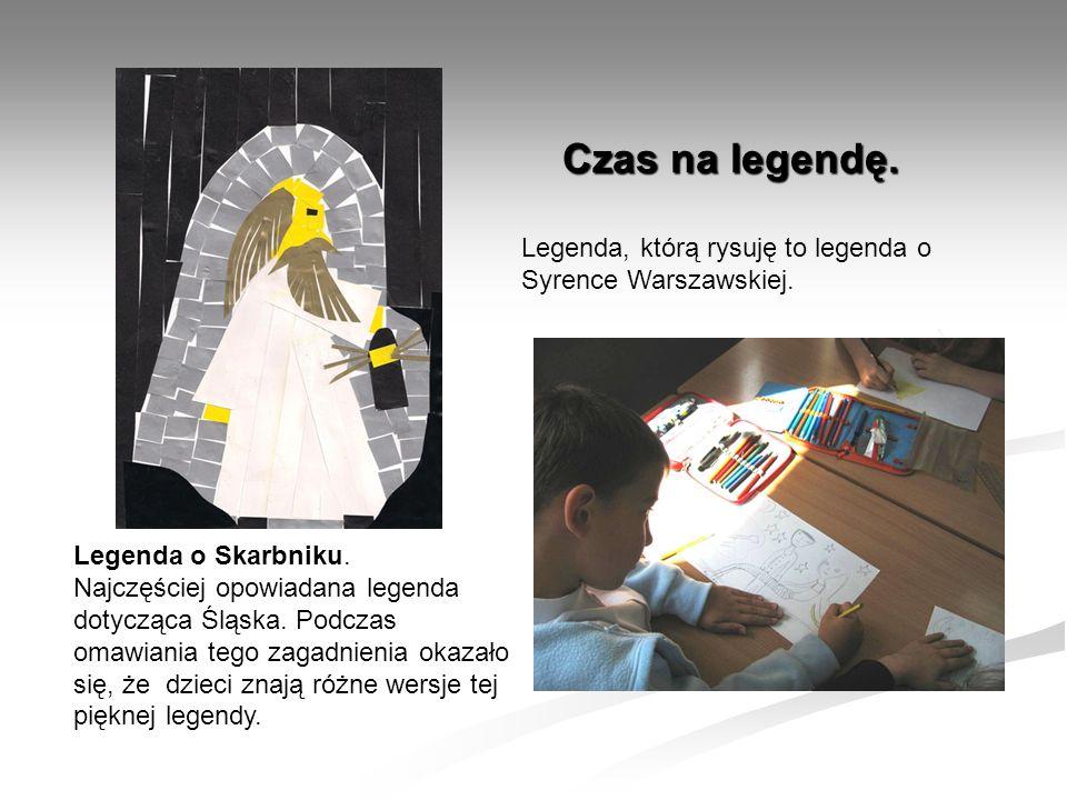 Czas na legendę. Legenda, którą rysuję to legenda o Syrence Warszawskiej. Legenda o Skarbniku.