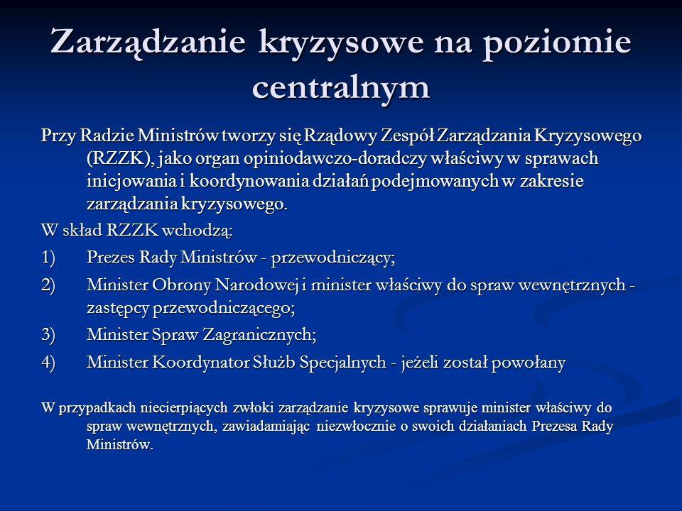Zarządzanie kryzysowe na poziomie centralnym