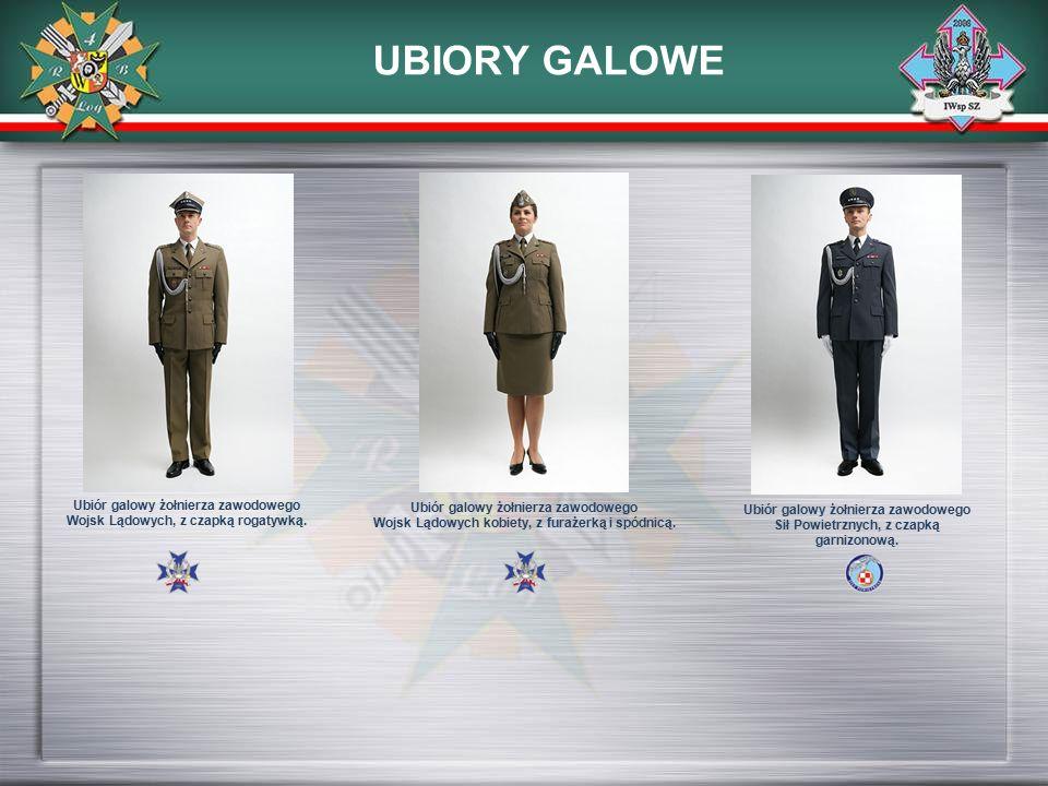 UBIORY GALOWE Ubiór galowy żołnierza zawodowego