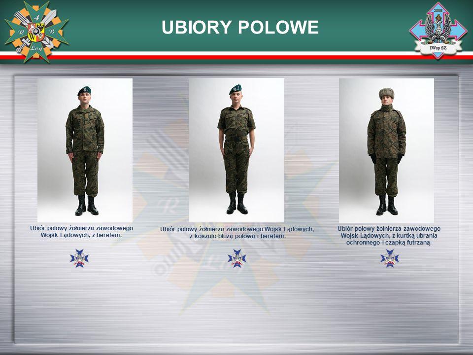 UBIORY POLOWE Ubiór polowy żołnierza zawodowego