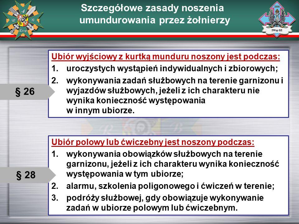 Szczegółowe zasady noszenia umundurowania przez żołnierzy