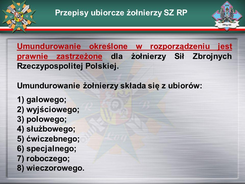Przepisy ubiorcze żołnierzy SZ RP