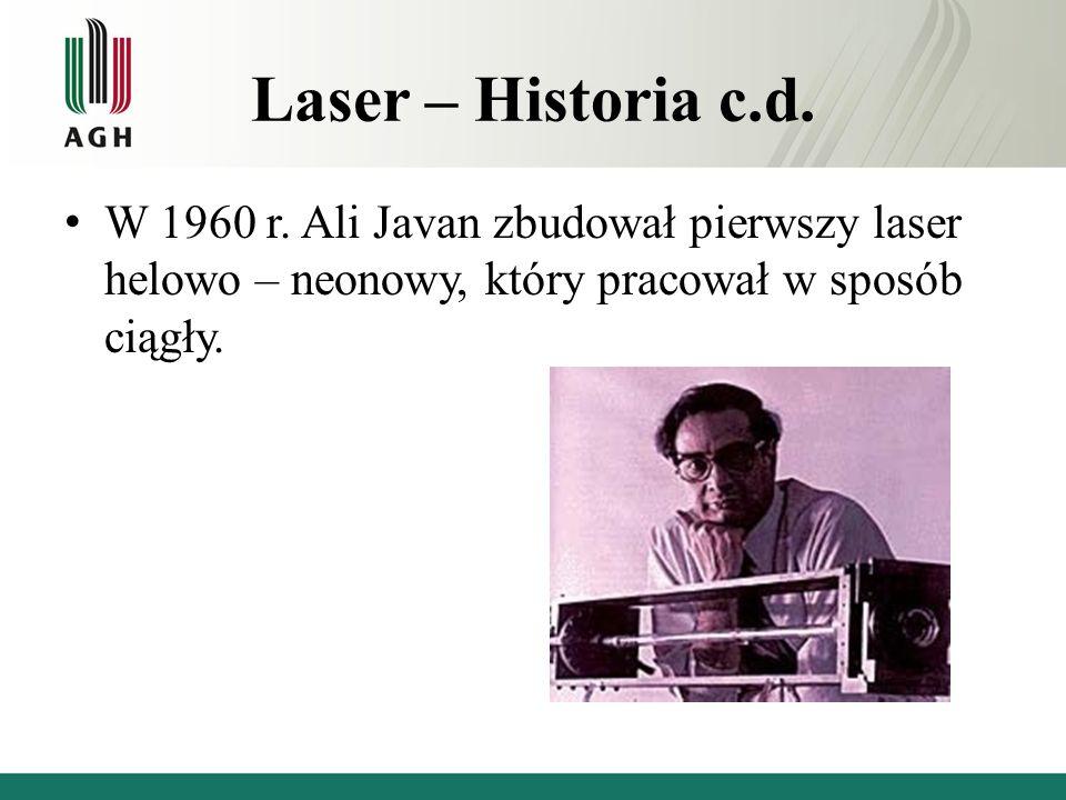 Laser – Historia c.d. W 1960 r.