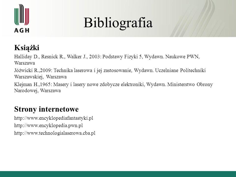 Bibliografia Książki Strony internetowe