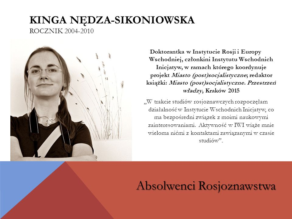 Kinga Nędza-Sikoniowska rocznik 2004-2010