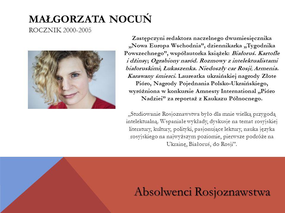 Małgorzata Nocuń rocznik 2000-2005