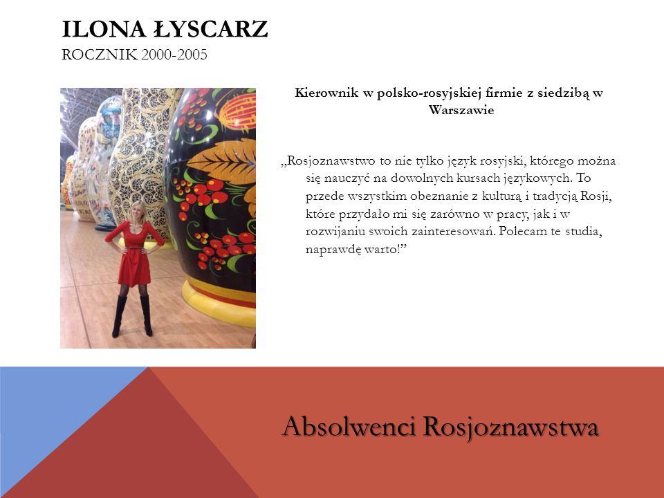 Ilona Łyscarz rocznik 2000-2005