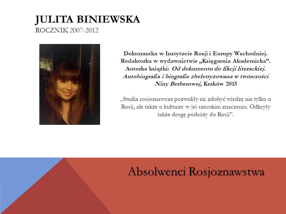 Julita biniewska rocznik 2007-2012