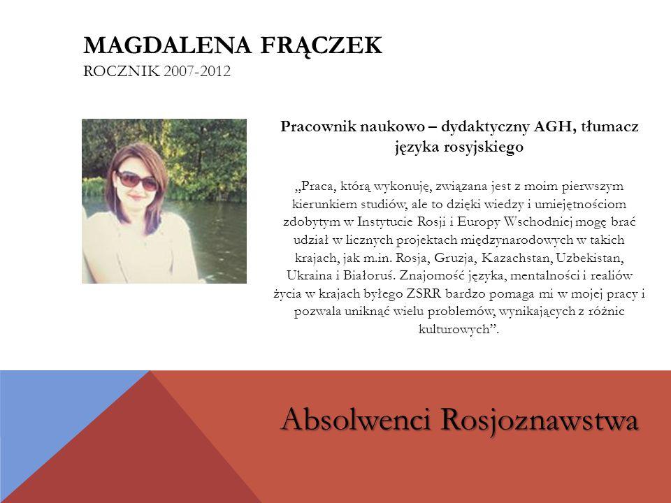 Magdalena Frączek rocznik 2007-2012