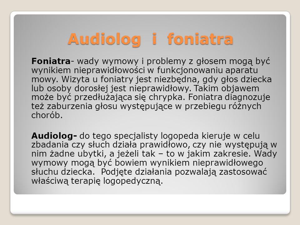 Audiolog i foniatra