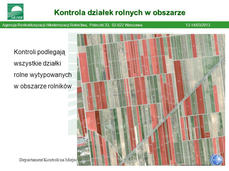 Kontrola działek rolnych w obszarze