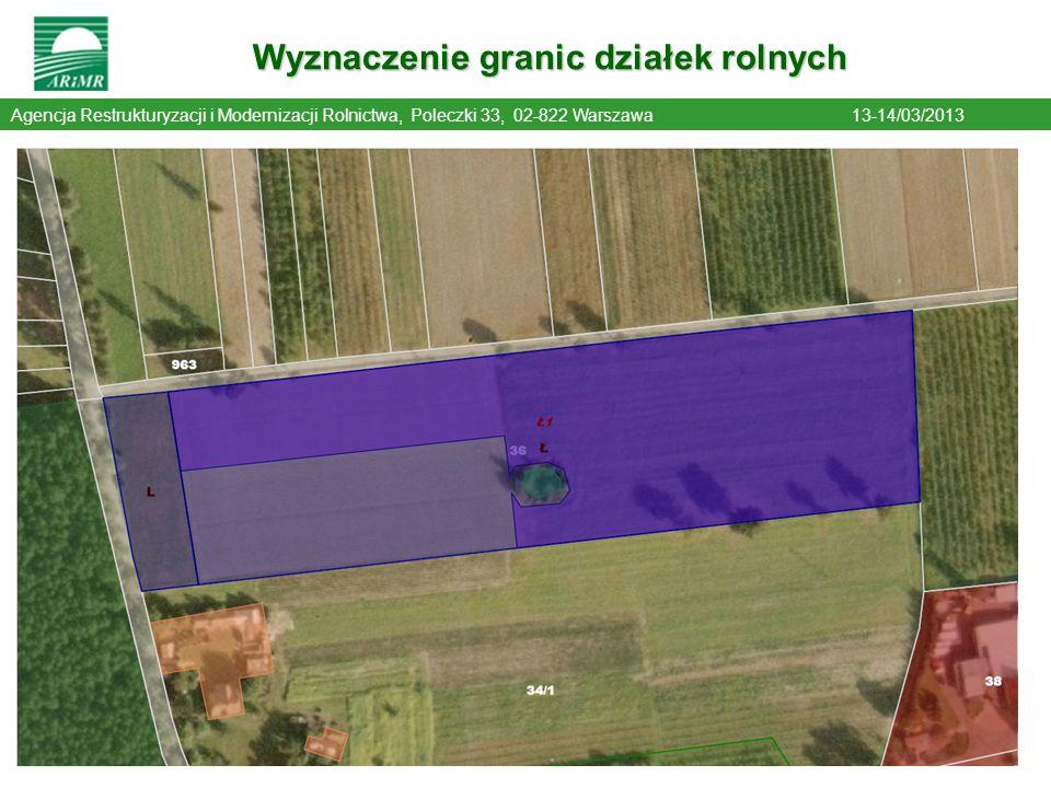 Wyznaczenie granic działek rolnych