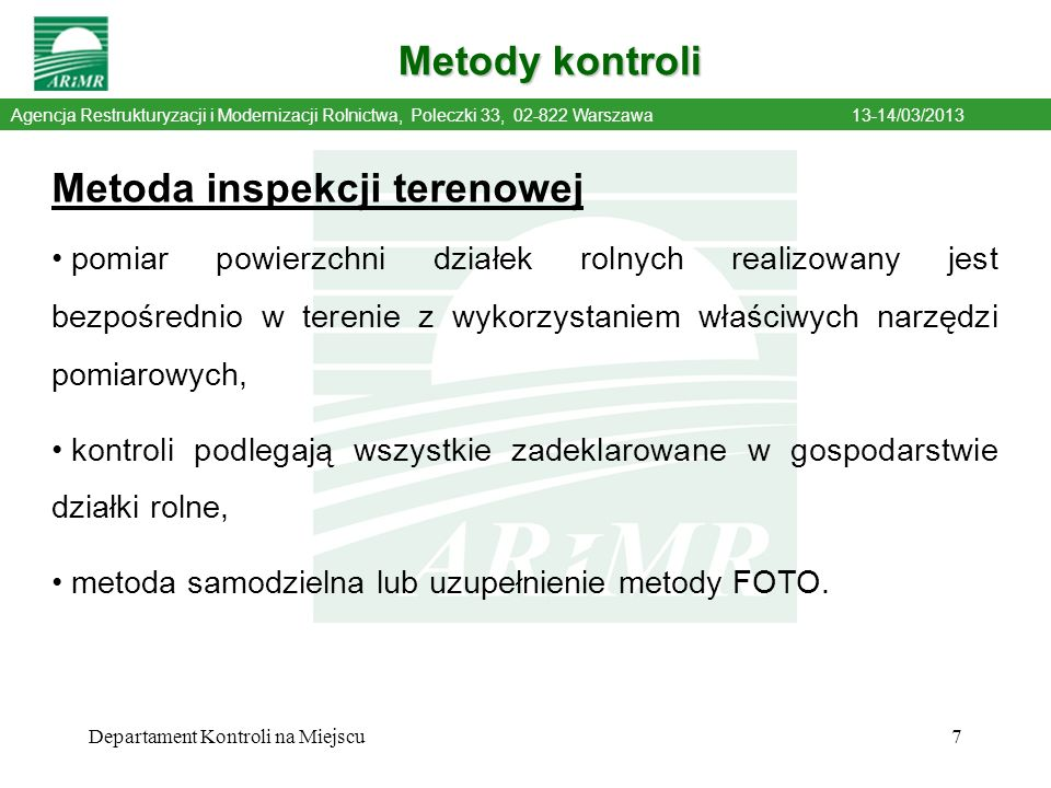 Metoda inspekcji terenowej