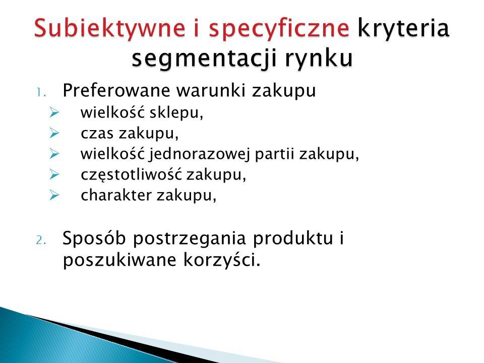 Subiektywne i specyficzne kryteria segmentacji rynku