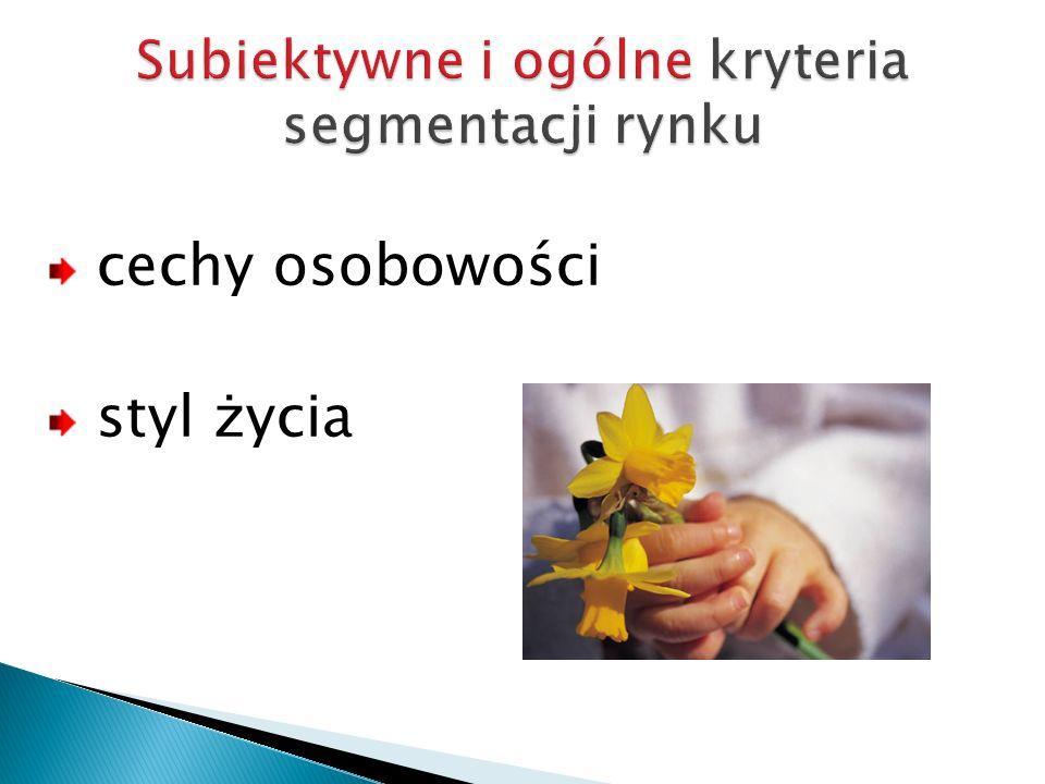 Subiektywne i ogólne kryteria segmentacji rynku