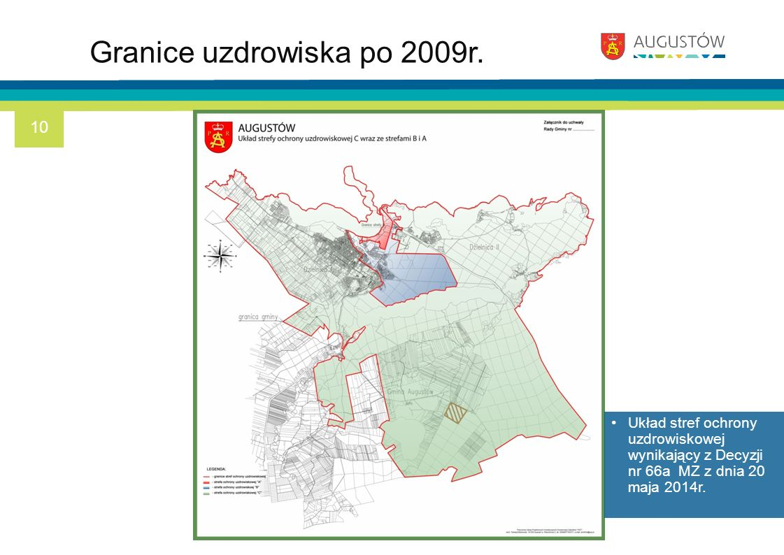 Granice uzdrowiska po 2009r.