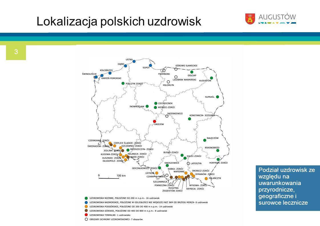 Lokalizacja polskich uzdrowisk