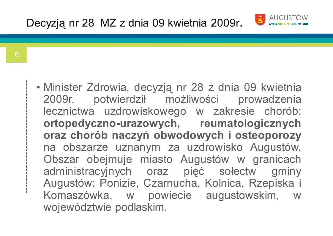 Decyzją nr 28 MZ z dnia 09 kwietnia 2009r.