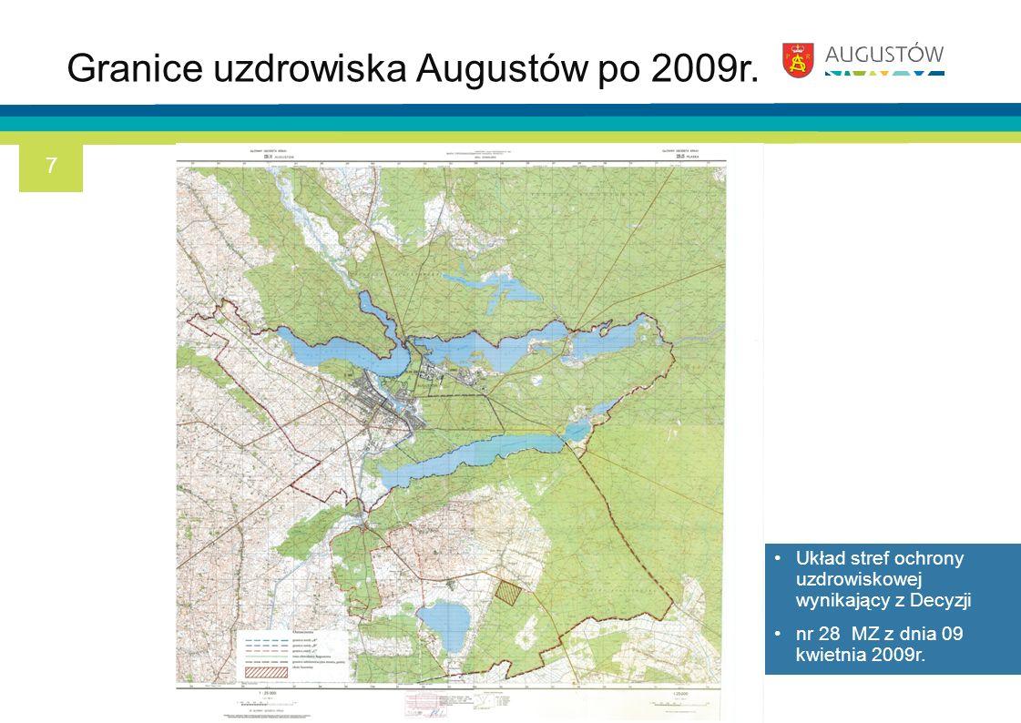 Granice uzdrowiska Augustów po 2009r.