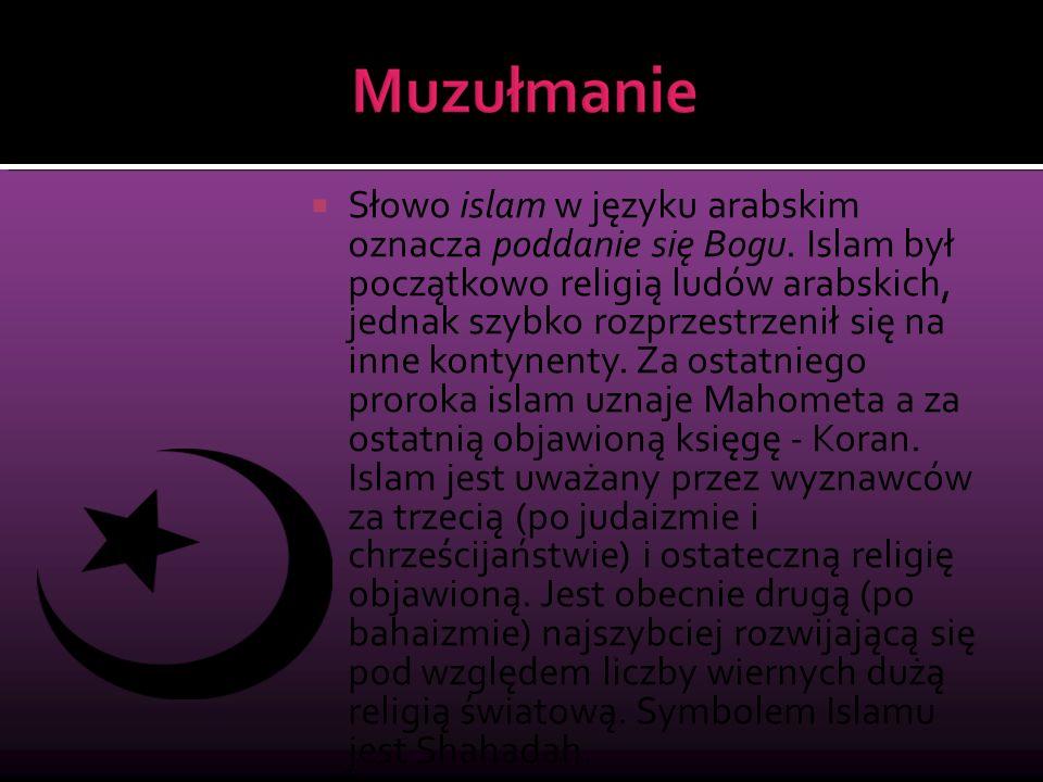 Słowo islam w języku arabskim oznacza poddanie się Bogu