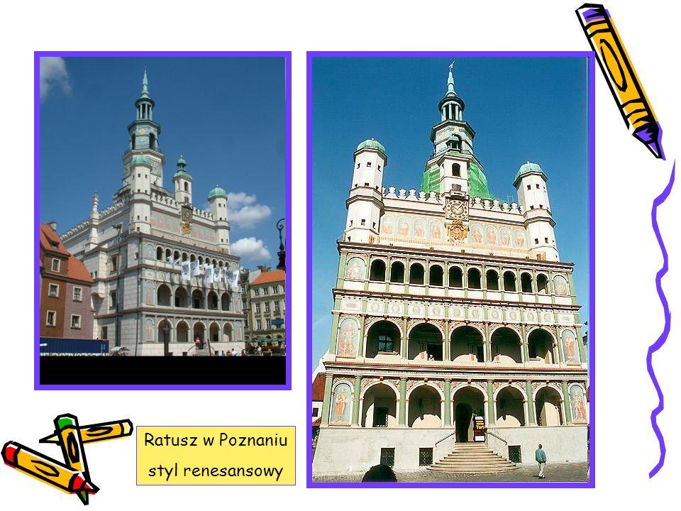 Ratusz w Poznaniu styl renesansowy