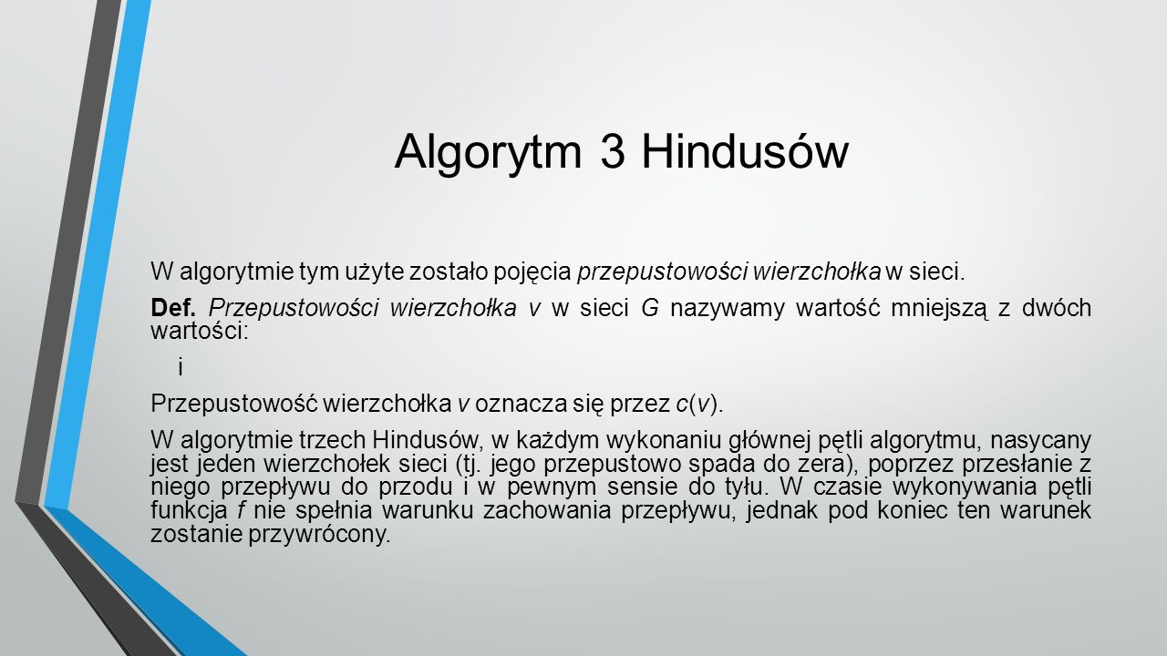 Algorytm 3 Hindusów