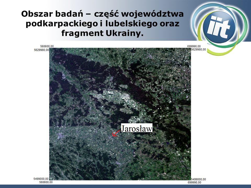 Obszar badań – część województwa podkarpackiego i lubelskiego oraz fragment Ukrainy.