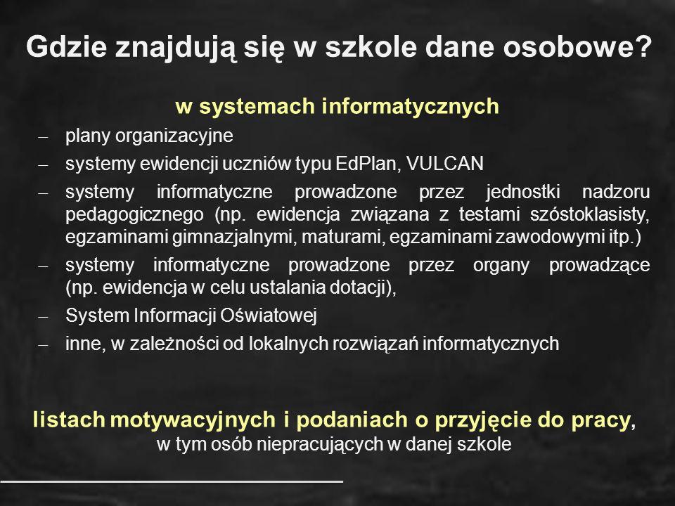 w systemach informatycznych