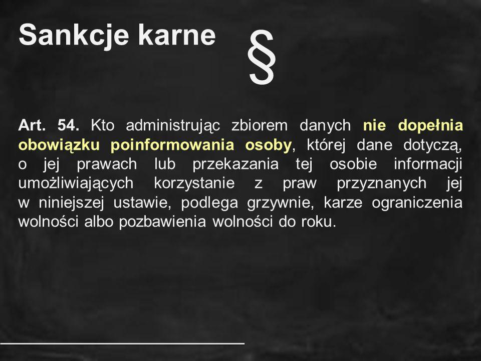 Sankcje karne §