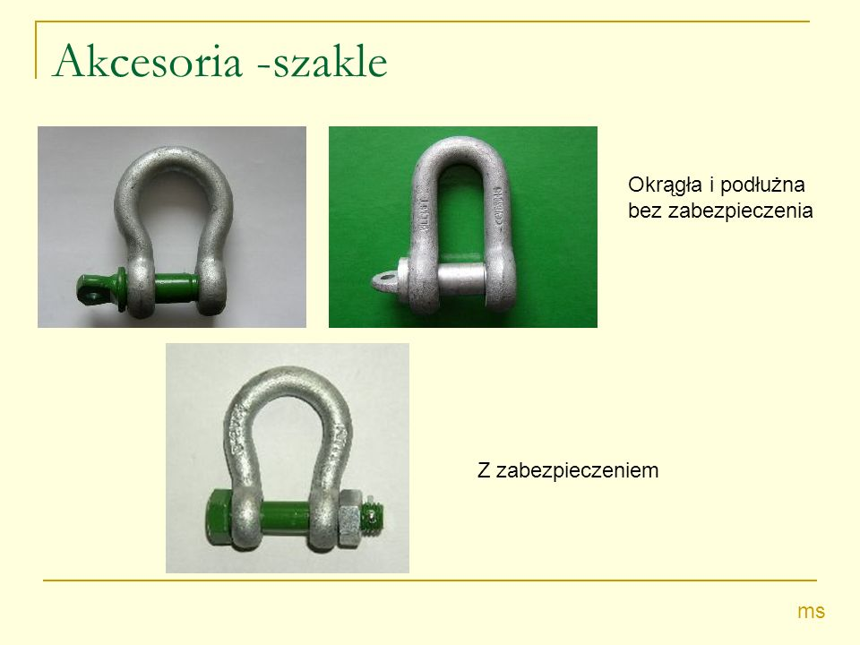 Akcesoria -szakle Okrągła i podłużna bez zabezpieczenia