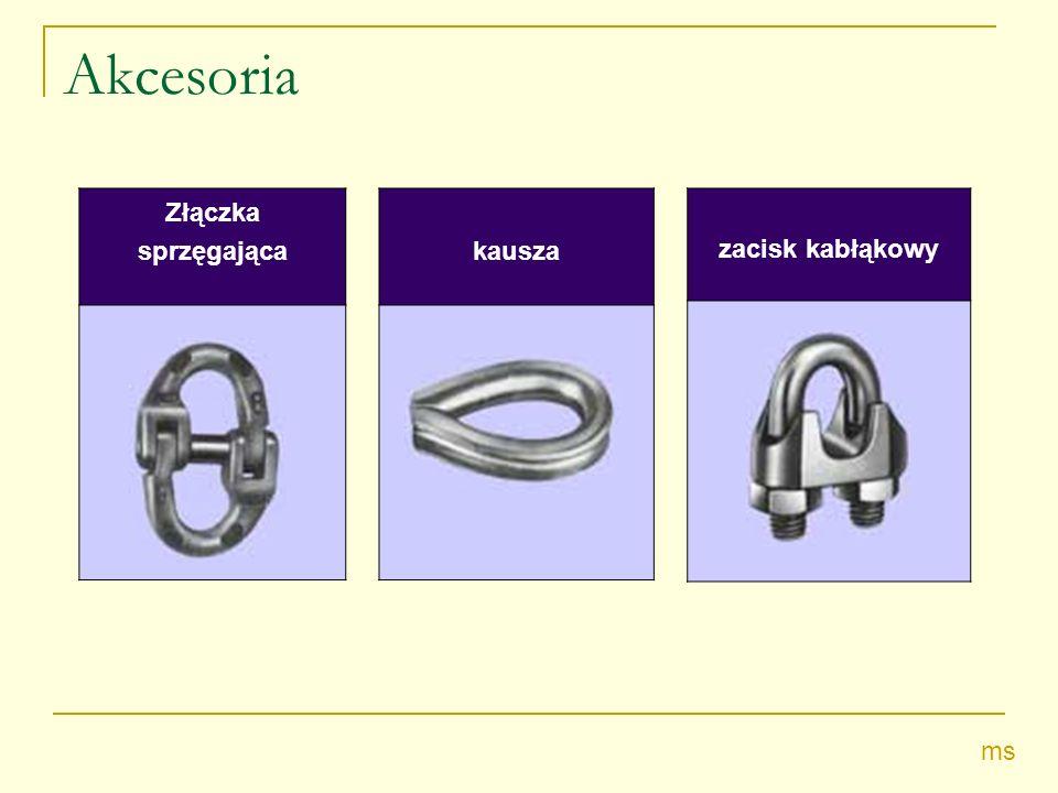 Akcesoria Złączka sprzęgająca kausza zacisk kabłąkowy ms