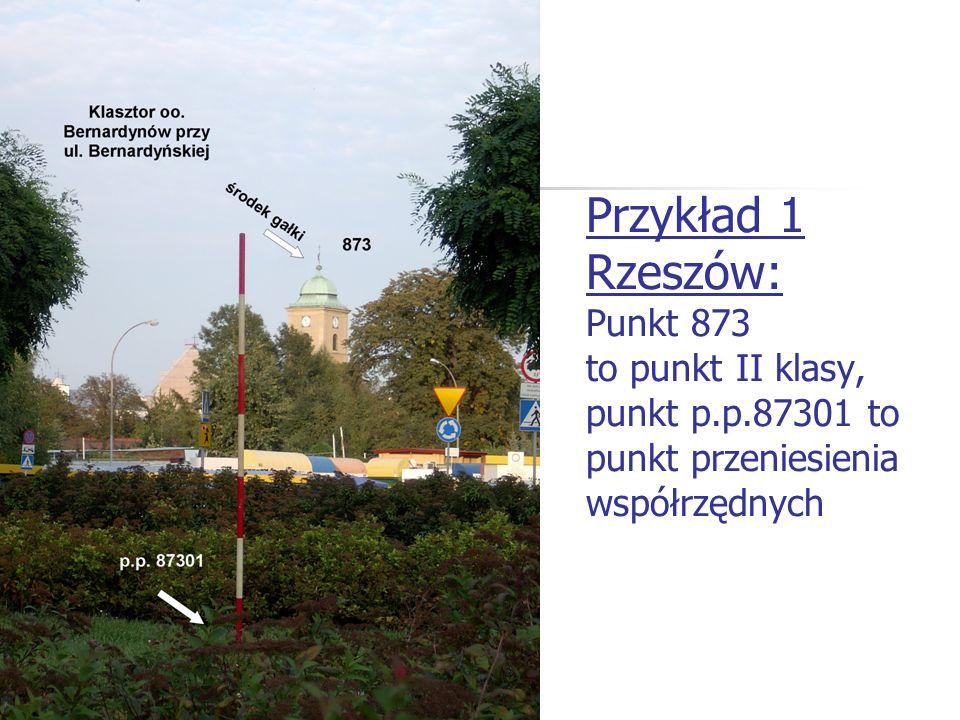 Przykład 1 Rzeszów: Punkt 873 to punkt II klasy, punkt p. p